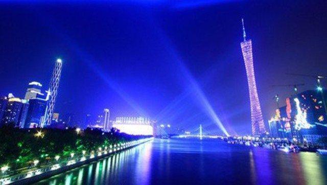 武汉夜色航拍风景图