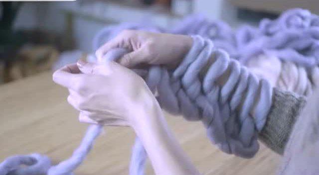 毛儿手作棒针编织男士围巾麦田围巾新手教程