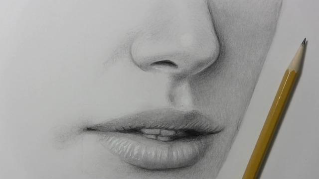 绘画教程:如何画好鼻子和嘴巴!