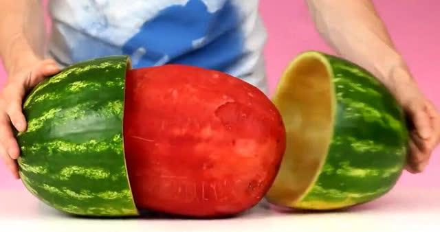 西瓜的九种切法,西瓜吃出新花样