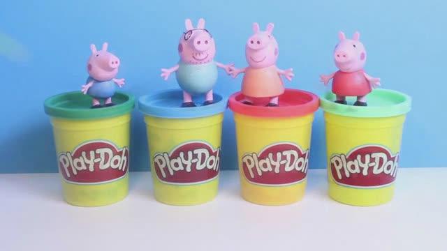佩佩猪的橡皮泥手工制作三款彩色雪糕视频