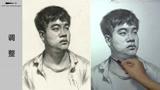 第九十九集 朱传奇男青年素描头像示范完全版 (35播放)