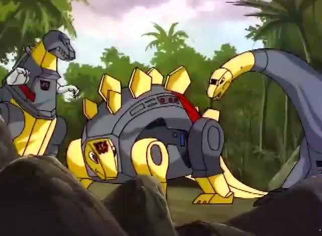 变形金刚 机器恐龙大战原始恐龙 威震天坐收战果图片