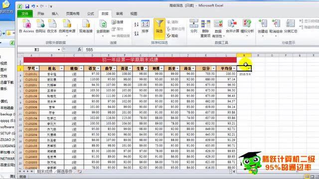 国家二级ms office 2010视频教程excel电子表格教程excel分类汇总