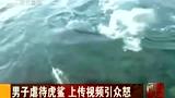男子虐待虎鲨 上传视频引众怒