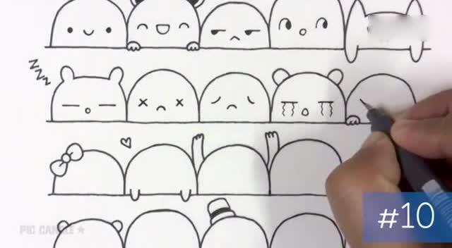 10种海绵宝宝的画法,有时间带着宝宝画起来