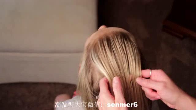 小女孩编发别人家的发型女生总那么好看的大发型孩子头肩宽图片