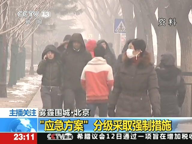 雾霾围城 北京:应急方案分级采取强制措施截图