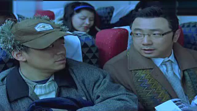 王宝强第一次坐飞机时的片段