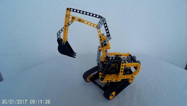 乐高积木挖掘机,你是不是也要来一台