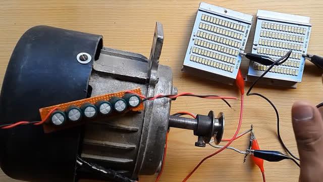 如何使自由能发电机220v从洗衣机电机