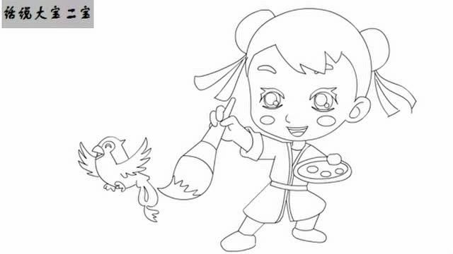 儿童故事插画手绘版