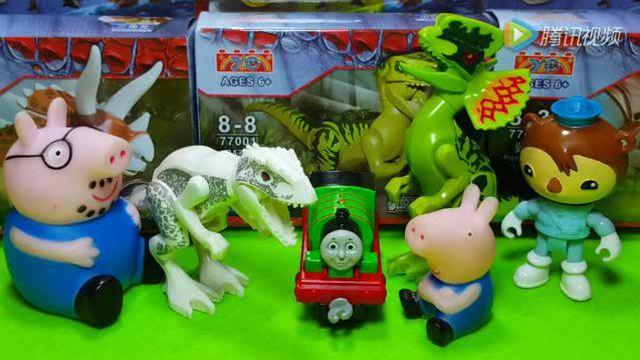 玩恐龙乐高拼图玩具
