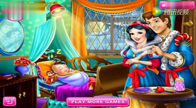 芭比公主之白雪公主宝贝洗澡