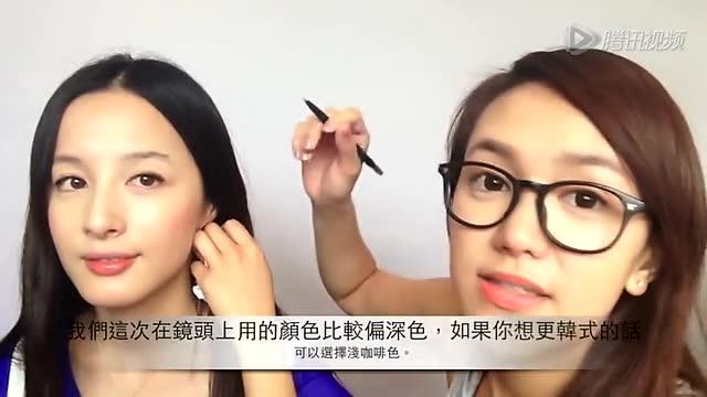 视频 好看 一字/超详细教学手残也能学会的韩式一字眉...