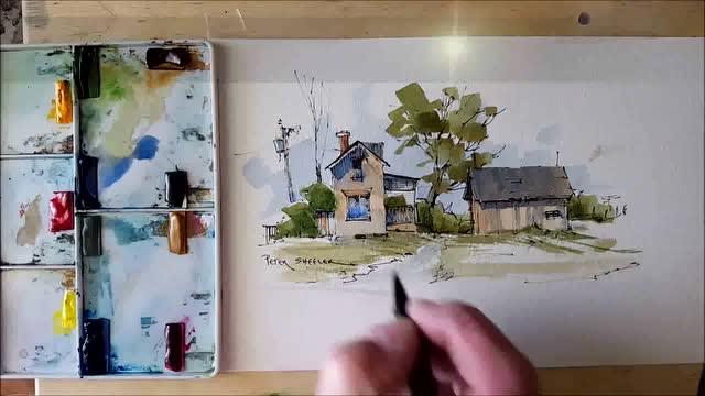 简单好看的水彩风景画 绘画技巧轻松分享