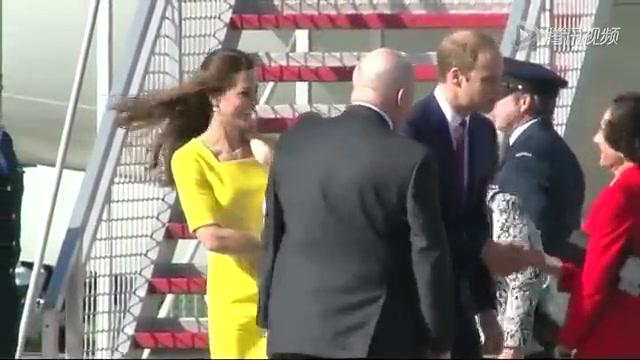 时尚不输女星 凯特王妃亮黄短裙抢镜截图