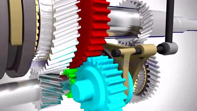 汽车的手动变速箱工作原理3d演示