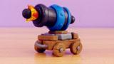 DIY创意手工制作游戏《皇室战争》中的大炮车道具