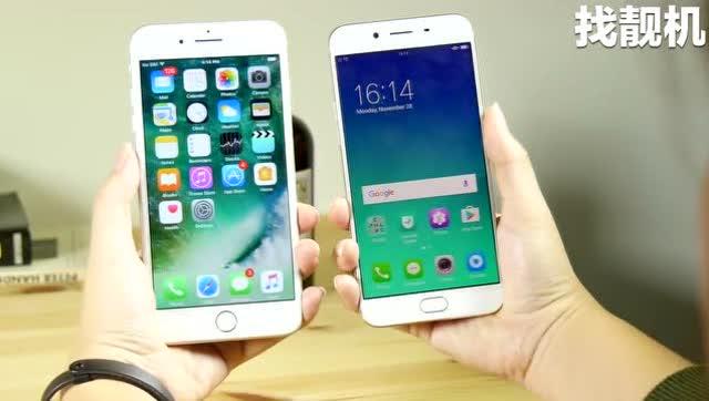 oppo r9s与iphone7p指纹解锁对比,差距明显