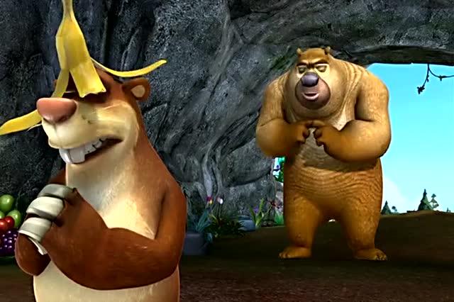 吉吉6699_吉吉真的当国王了,萝卜头帮它揉脚,熊二揉背,熊大扇风