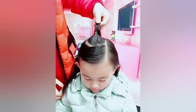 儿童新发型,过年的时候可以美美的出门了