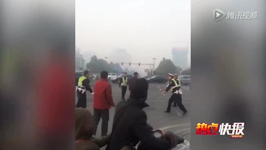 河南安阳袭警_河南男子因无证驾摩托被扣 持刀袭警致1死3伤