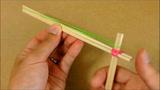 教你用一次性筷子手工制作橡皮筋发射器,简单又好玩!