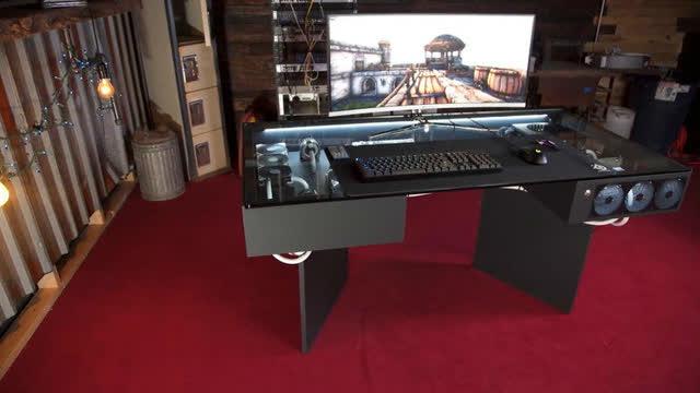 帅爆了!这才叫酷炫吊炸天的DIY台式机桌子