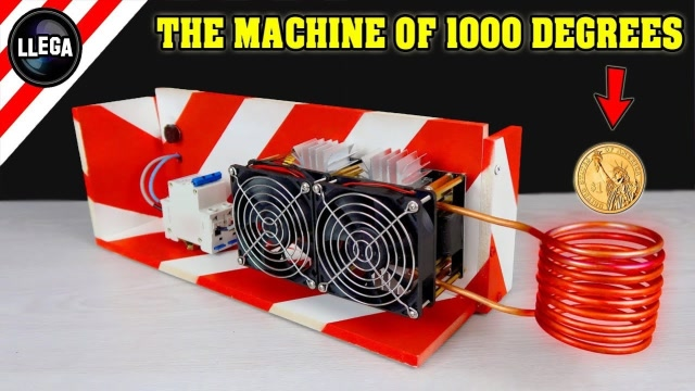 惊人的1000度加热装置,硬币放进去瞬间烧红