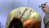 机车骑士用品行*摩托车油箱彩绘喷绘个性定制改色金箔漆