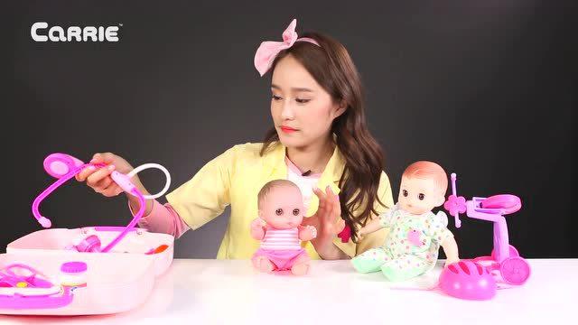 咪咪洋娃娃玩具和變形警車安巴救護